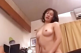 Old Japanese Step Mom Loves Her Sons Cock