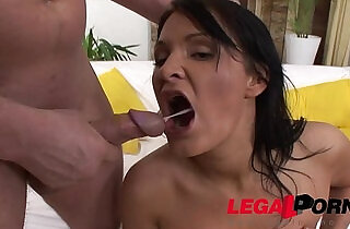 Russian PAWG Kitty Black slut gets loose with a Deep anal strapon fuck