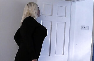 She finds him cheating with blonde fatty