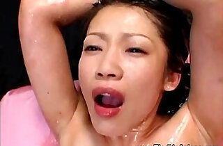 Asian fisted then pissed on by her master