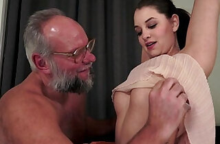 Angelina Brill fucks older gentleman