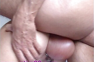 Pumping Pierced Pussy and Saline Balls inflation Fucking