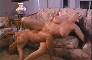 Blonde and brunette and blonde lesbians suck and rub pussies together on More