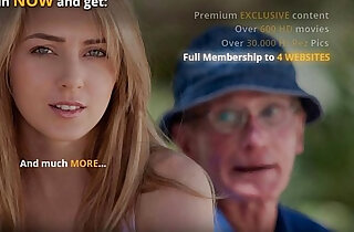 old versus young - Oldman is lured and fucked by horny young blonde