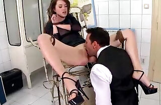 Petite Babe her Asshole and Pussy Destroyed by her Boss and Loves it