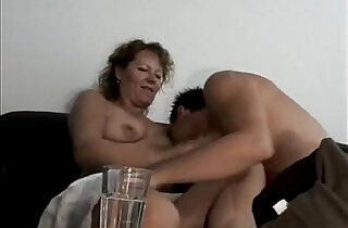 Marine german oma makes love sex with her young toyboy