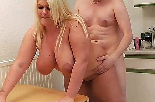 Blonde gets licked and doggy style fucked by boss