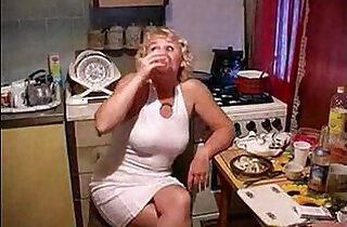 mom sexy - A mom fucked by her son in the kitchen river