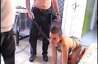 old men training young slave girl VOB