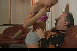Sexy tease for fuck an older guy