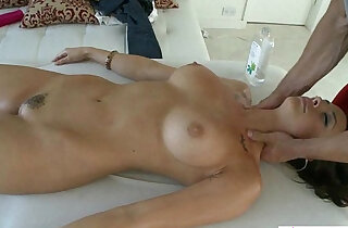 Shymassage Brunette Massage Fondling.