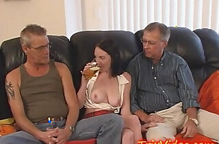 Young blonde Teen Does DADDY and UNCLE