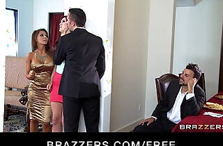 Two young couples switch partners start a hardcore orgy