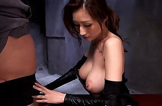ladies - Cosplay ninjutsu lady gets cum on tits