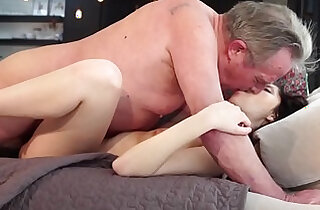 Old and Young Porn Sweet girlfriend gets fucked by grandpa