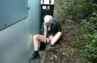 Blonde teens naughty public masturbation and outdoor flashing of young amateur e