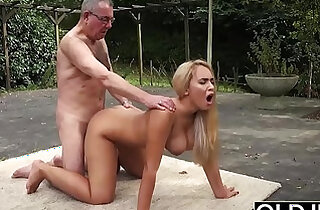 Old and Young Porn BustyTeen Gets Wet and Sucks Grandpa