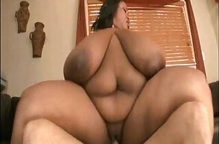 Black BBW Cotton Candi with tits Fucks White Stud