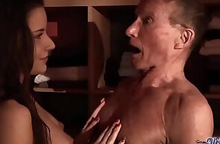 Teen get Fucked Old man cock seduced him swallowed his juicy cum hardcore
