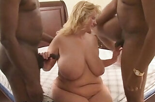 BBW Wife Used and Fucked by Big Black Cocks