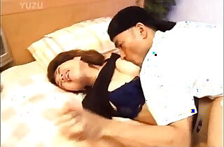 Japanese Model busty hairy love box fingered and fucked