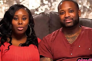 Black couple eager to try a threesome action with a friend